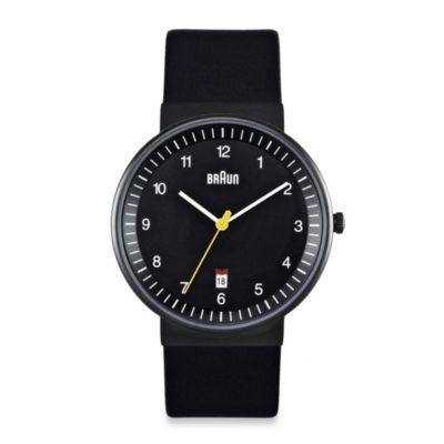 Stainless Steel with Black Strap Men's Watches