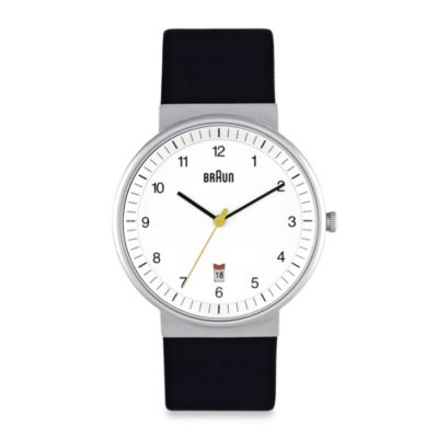Braun® Classic Men's Watch in White