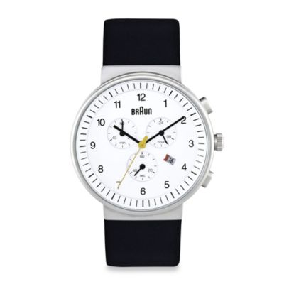 Braun® Classic Men's Chronograph Watch in White