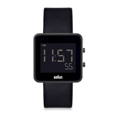 Braun® Men's Digital Watch in Black