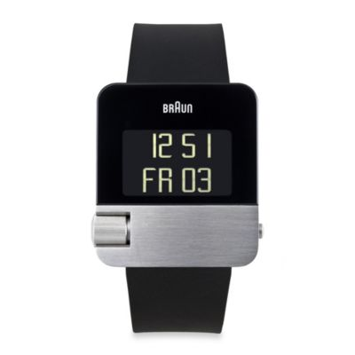 Braun® Prestige Men's BN10 Digital Watch in Black