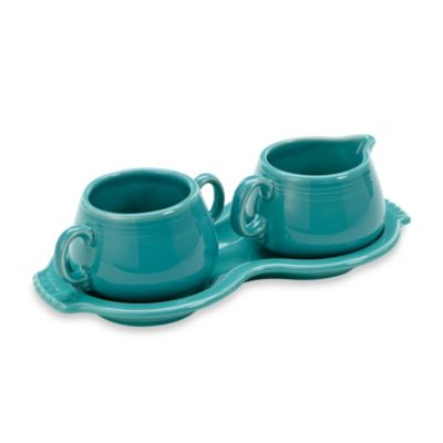 Fiesta® Sugar and Creamer with Tray in Turquoise
