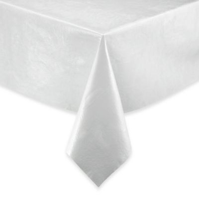 Vinyl 52-Inch X 108-Inch Table Pad in White