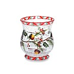 Yankee Candle® Plaid Crackle Hurricane Votive Candle Holder