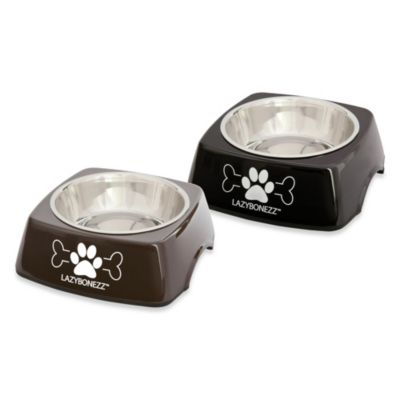 LAZYBONEZZ™ Sleek Feeding Dish in Black