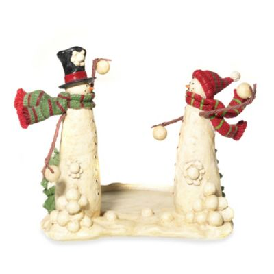 Yankee Candle® Snowmen Jar Holder