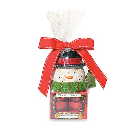 Yankee Candle® Holiday Snowman Head Tealight Set