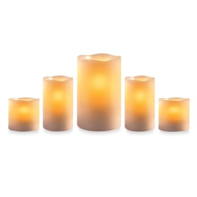 Loft Living Flameless Pillar Candles (Set of 5)