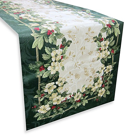 Buy joyous holiday 108 inch table runner from bed bath for 108 table runner