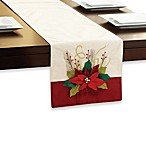 Floral Poinsettia Table Runner
