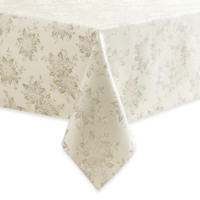Winter Shine 70-Inch Round Tablecloth in Silver