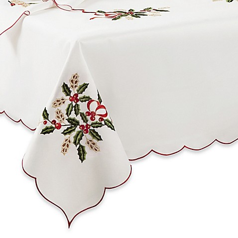 Lenox® Holiday™ Cutwork Tablecloth
