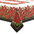 Holiday Contempo Poinsettia Tablecloth