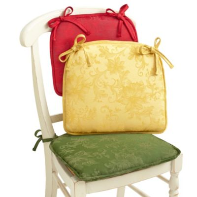 Holiday Joy Damask Chair Pad