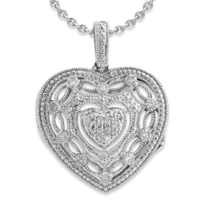 Ze™ Sterling Silver 1/5 cttw Diamond Locket