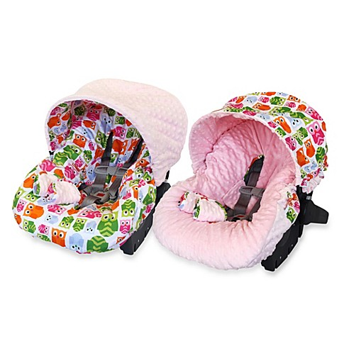 buy itzy ritzy infant car seat cover in hoot from bed bath beyond. Black Bedroom Furniture Sets. Home Design Ideas