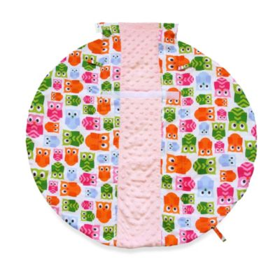 Itzy Ritzy Wrap & Roll Infant Carrier Arm Pad & Tummy Time Mat in Hoot