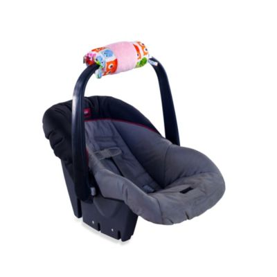 Itzy Ritzy Ritzy Wrap Infant Car Seat Handle Cushion in Hoot