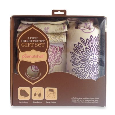 The Peanut Shell® 3-Piece Infant Carrier Gift Set in Dahlia