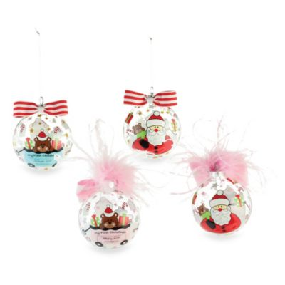 Mud Pie® First Christmas Glass Ornament in Blue