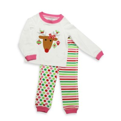 Mud Pie® Reindeer Size 6-9M 2-Piece Lounge Set