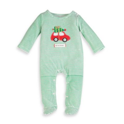 Mud Pie® Holiday Car Size 0-6M Footie