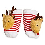 Mud Pie™ Reindeer Christmas Rattle Toe Socks