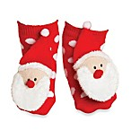 Mud Pie™ Santa Christmas Rattle Toe Size 0-12 Months Socks