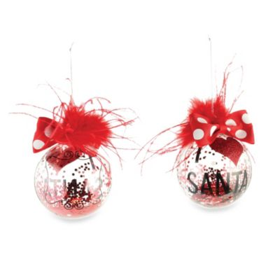 Mud Pie® I Love Santa Glass Ornament
