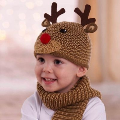Mud Pie® Knit Reindeer Hat