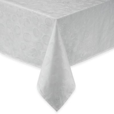 Garnier-Thiebaut Mille Pensees 71-Inch x 71-Inch Damask Tablecloth in White