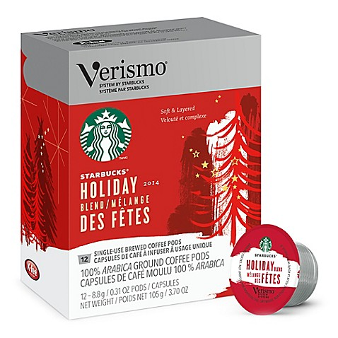 Starbucks 174 Verismo 12 Count Holiday Blend Brewed Coffee