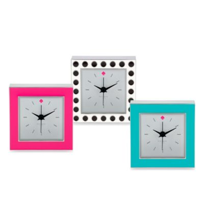 kate spade new york Cross Point Clock in Pink