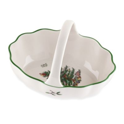 Spode® Christmas Tree Basket with 6-Inch Handle