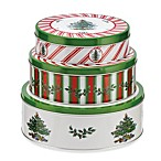 Spode® Christmas Tree Nesting Tins (Set of 3)