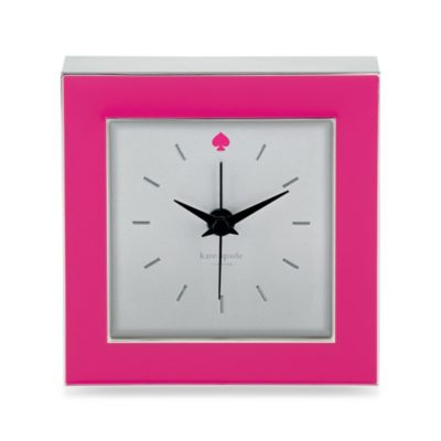 kate spade new york Cross Point™ Clock in Pink