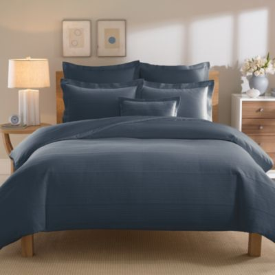 Real Simple® Linear Duvet Cover in Ink