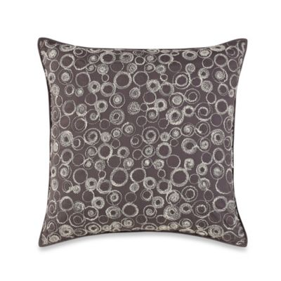 Real Simple® Linear 16-Inch Square Decorative Pillow in Charcoal