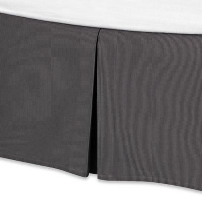 Real Simple® Linear Bed Skirt in Charcoal