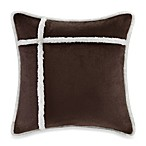 The Seasons® Reversible Down Alternative Square Toss Pillow in Chocolate