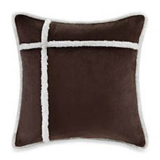 The Seasons® Reversible Down Alternative Square Throw Pillow in Chocolate