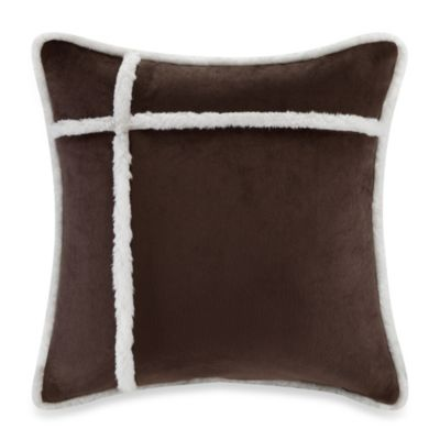 The Seasons Reversible Down Alternative Square Throw Pillow in Chocolate - Bed Bath & Beyond
