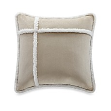 The Seasons® Reversible Down Alternative Square Throw Pillow in Tan