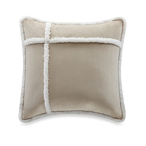 Down Alternative Decorative Pillows : Buy The Seasons Reversible Down Alternative Square Throw Pillow in Tan from Bed Bath & Beyond