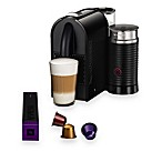 Nespresso® U Espresso Maker and Aeroccino 3 in Pure Black