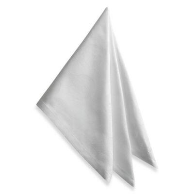 Garnier-Thiebaut Mille Pensees 21-Inch x 21-Inch Damask Napkins in White (Set of 4)
