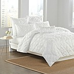 DKNY Diamond Tuck Pillow Shams in White
