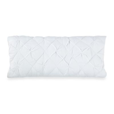 DKNY Diamond Tuck Oblong Toss Pillow in White