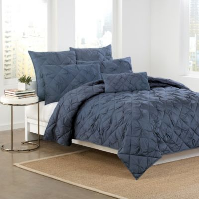 DKNY Diamond Tuck Pillow Shams in Sapphire