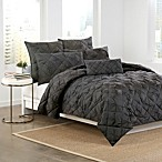 DKNY Diamond Tuck Pillow Shams in Charcoal